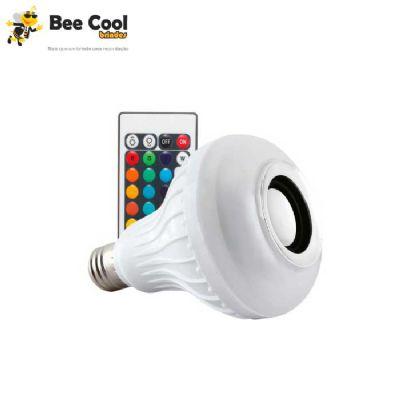 Bee Cool Brindes - Lâmpada LED c/ som bluetooth