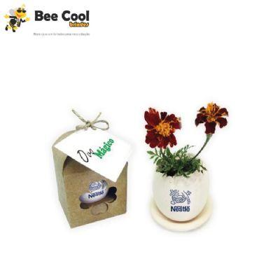 Bee Cool Brindes - Vaso de plantas ecológico ovo
