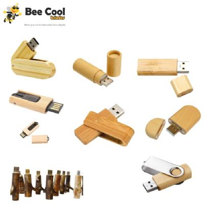 Bee Cool Brindes - Pen drive ecológico