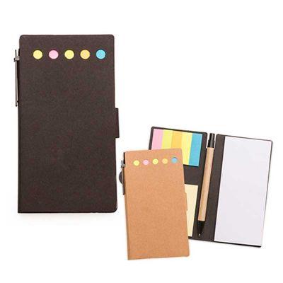 Line Brindes - Bloco de anotações com sticky notes e caneta