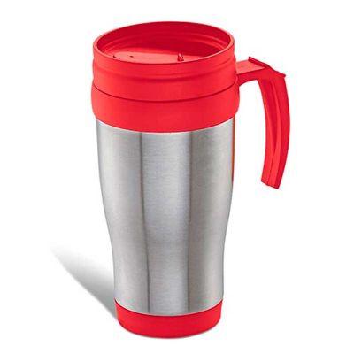 line-brindes - Caneca revestida em aço inox - 410 Ml - Vermelha