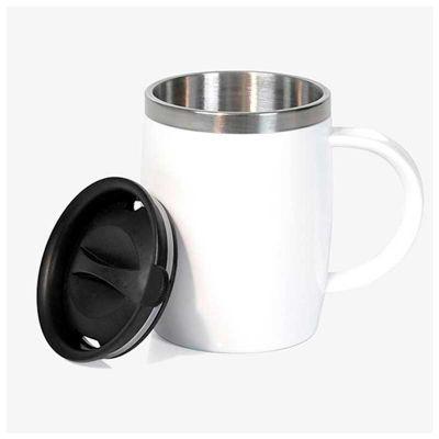 Caneca em aço inox - Poliestireno - 400 Ml - Line Brindes