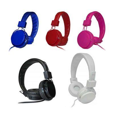 Headphone de couro sintético com microfone