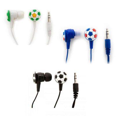 line-brindes - Fone de ouvido bola de futebol