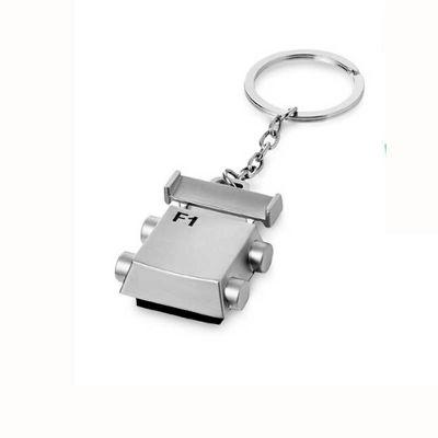 Line Brindes - Chaveiro de metal com limpador