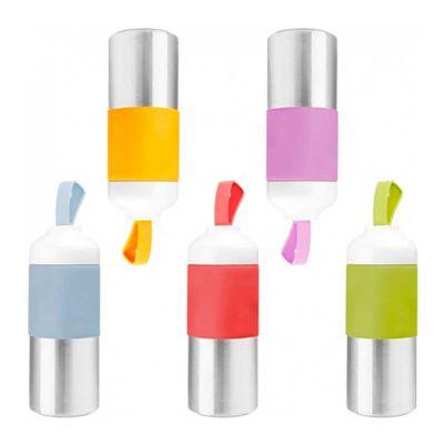 line-brindes - Garrafa em Inox e Silicone