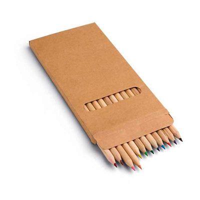 line-brindes - Caixa de cartão com 12 lápis de cor
