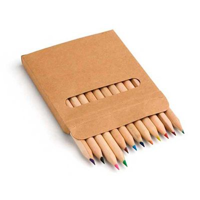 Line Brindes - Caixa com 12 mini lápis de cor