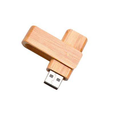 - Pen drive de bambu giratório ecológico.
