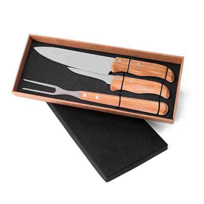 line-brindes - conjunto de facas 3 peças
