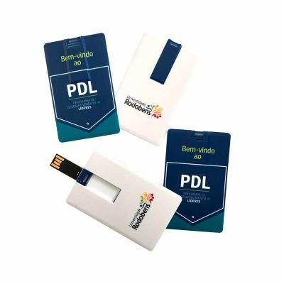- Pen card com capacidade de 4GB, 8GB, 16GB e 32GB.