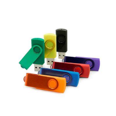 Line Brindes - Pen drive giratório com haste colorida