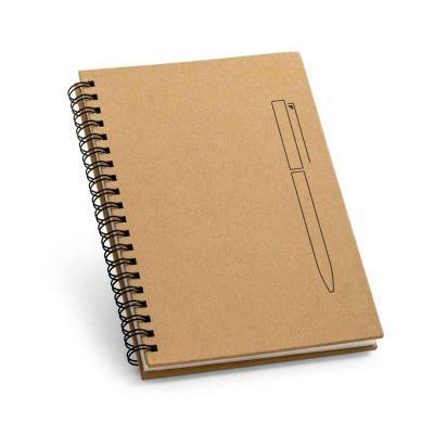 Caderno B6 capa dura. Papel kraft. 70 folhas não pautadas papel pedra de 120 g/m². Imã na capa qu...