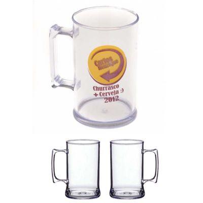Line Brindes - Caneca de 430 ml, em acrílico transparente. Tamanho Total: 11.00 cm x 6.00 cm