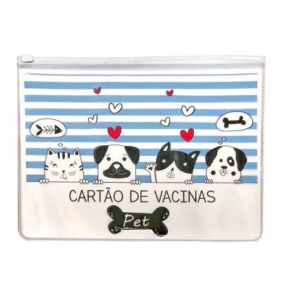 Carteira de Vacina em PVC para Pets