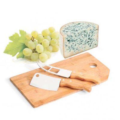 Line Brindes - Kit queijo com 3 peças.