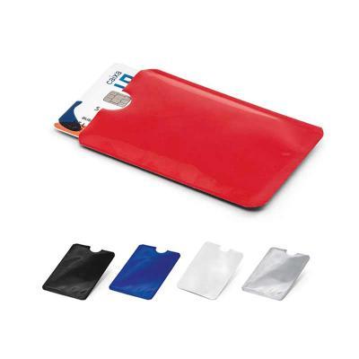 Porta cartões. Alumínio. Com tecnologia de bloqueio RFID. 92 x 63 mm