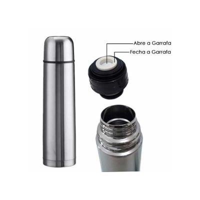 Selecta Promocional - Garrafa térmica em aço inox com tampa