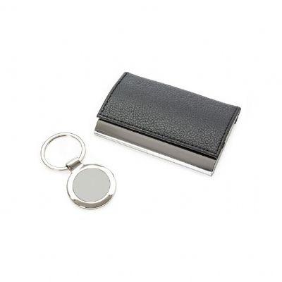 Selecta Promocional - Kit executivo com chaveiro e porta cartão
