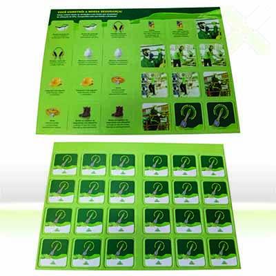 Stamp Visual - Jogo da Memória com impressão em offset ou silk screen.
