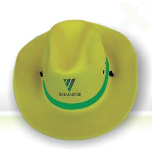 Stamp Visual - Chapéu de cowboy com gravação personalizada.
