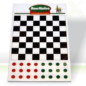 Stamp Visual - Jogo de damas com grava��o personalizada.