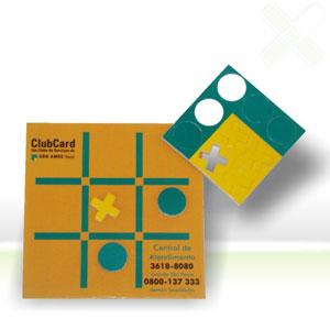 Stamp Visual - Jogo da velha com gravação personalizada.