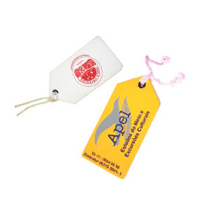 Stamp Visual - Tags com gravação personalizada.