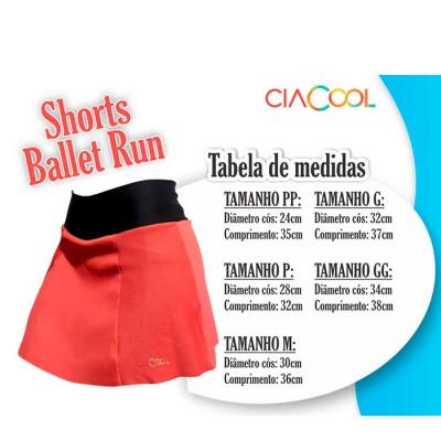 BALLET RUN   Shorts Saia de Compressão