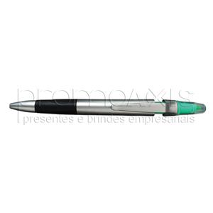 promoaxis - Caneta esferográfica plástica marca texto, com várias opções de cores.