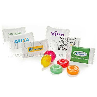 - Balas personalizadas cilíndricas, sabores de frutas