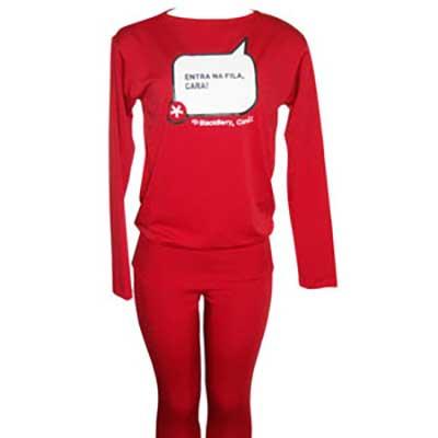 Stantex Soluções Têxteis - Blusa com gravação personalizada e calça legging.
