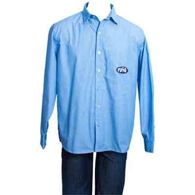 stantex-solucoes-texteis - Camisa Social em tricoline bordada.