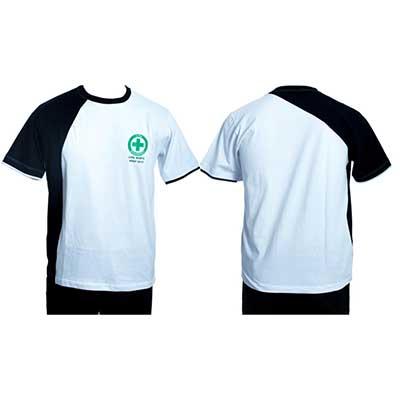 stantex-solucoes-texteis - Camiseta em malha com detalhes e impressão em silk.