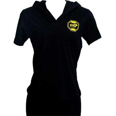 stantex-solucoes-texteis - Camiseta em malha com capuz e impressão em silk.
