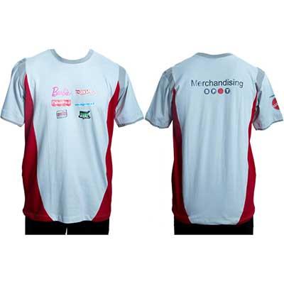 Stantex Soluções Têxteis - Camiseta gola em malha com detalhes e impressão em dark.
