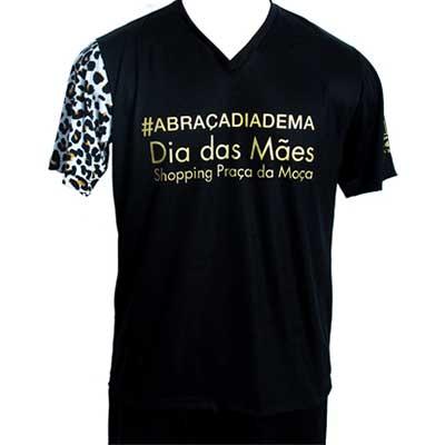 stantex-solucoes-texteis - Camiseta em malha com manga em suplex e impressão em silk.