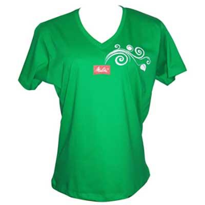 stantex-solucoes-texteis - Camiseta de algodão com gola V e gravação personalizada.