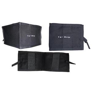 stantex-solucoes-texteis - Porta folheto em nylon com elásticos internos e gravação personalizada.