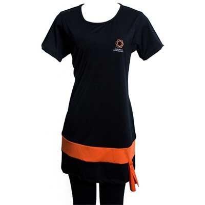 Stantex Soluções Têxteis - Bata com detalhes e legging em suplex com impressão em silk.
