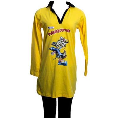Mini vest em malha com detalhes e impressão em silk com legging.