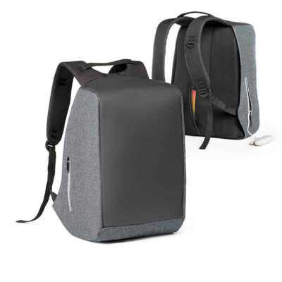 pratic-brindes - Mochila para notebook com sistema anti-roubo: compartimento principal com zíper oculto e parte posterior com 2 bolsos ocultos com zíper para maior seg...