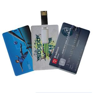 pratic-brindes - Pen drive cartão de 2, 4 e 8 Gb - personalizado em impressão digital frente e verso