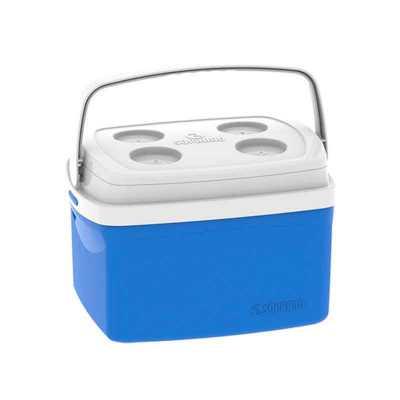 Pratic Brindes - Caixa térmica modelo Tropical, tampa da mesma cor do corpo e encaixe para acesso a bebida e alimentos. Capacidade: 12 litros Cor: Vermelha, preta, azu...