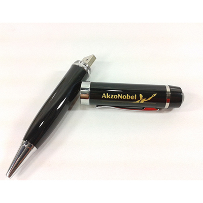 Smart Gifts & Co - Caneta com pen drive em metal com gravação personalizável.