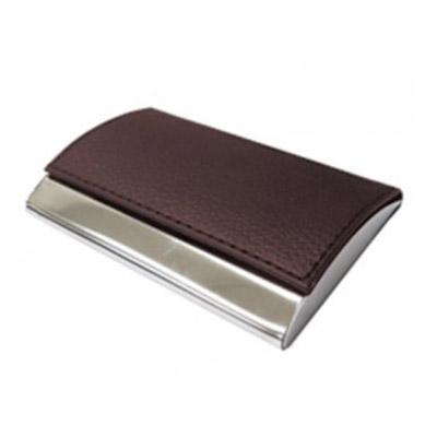Smart Gifts & Co - Porta cartão de visitas em couro com gravação personalizável.