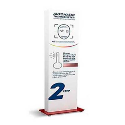 Termômetro infra vermelho por sensor Faixa de medição corporal: 0-50,0 Distancia de medição: 5-10...