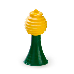 MGM Brindes - Corneta de plastico, personalizada com as cores da bandeira do Brasil.