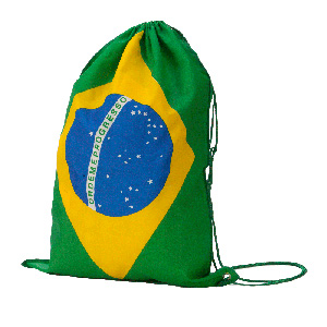 mgm-brindes - Mochila saco confeccionada em tnt com cordão duplo e impressão personalizada.
