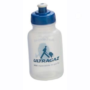 - Squeeze confeccionado em plastico com impressão personalizada. Capacidade para 300 ml.